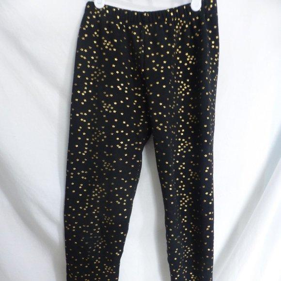 GAP KIDS, 14-16, black sweatpants with gold stars